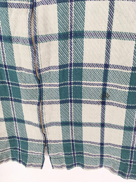 [3] 古着 90s Levi's カジュアル チェック ジップアップ ワーク ジャケット L 古着