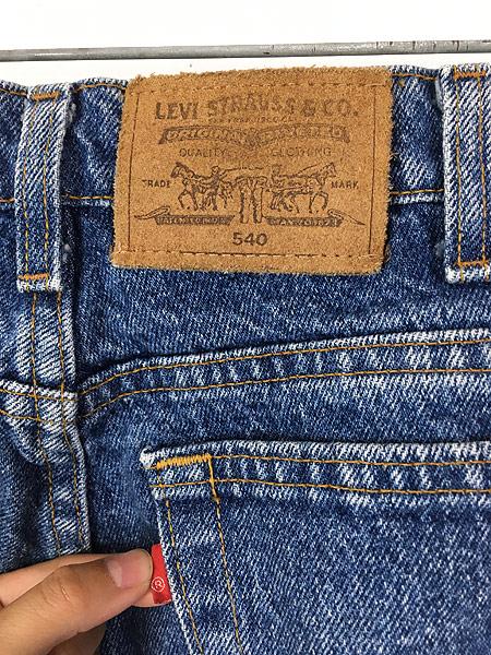 [5] 古着 90s USA製 Levi's 540 スエードパッチ デニム パンツ ジーンズ テーパード W34 L30 古着