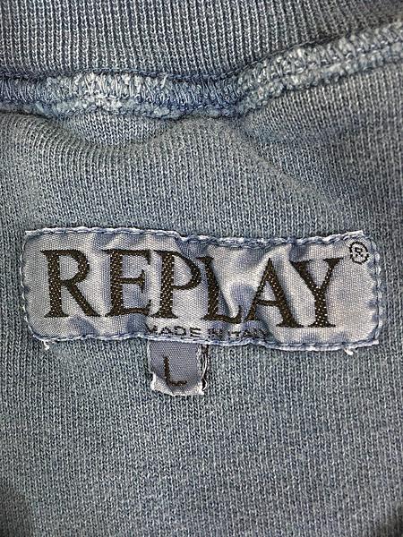 [5] 古着 ITALY製 REPLAY ワンポイント 半袖 スウェット トレーナー XL位 古着
