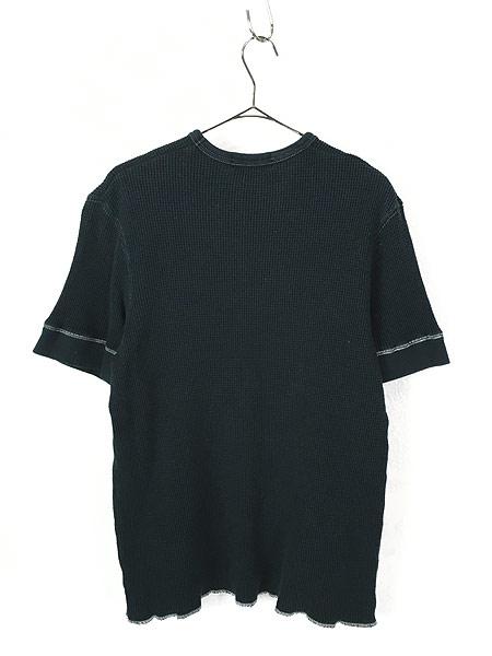 [3] 古着 POLO Ralph Lauren シンプル 半袖 ワッフル サーマル カットソー 黒 L 古着
