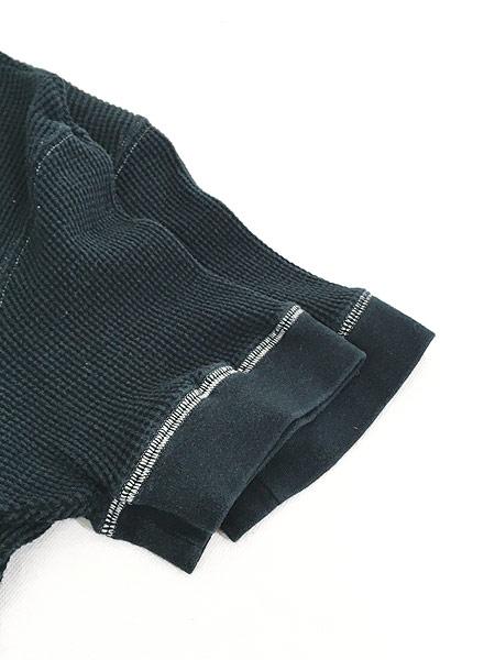 [4] 古着 POLO Ralph Lauren シンプル 半袖 ワッフル サーマル カットソー 黒 L 古着