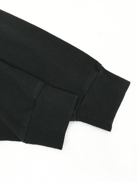 [5] 古着 POLO Ralph Lauren ワンポイント 長袖 カノコ ポロシャツ ロンポロ 黒 L 古着
