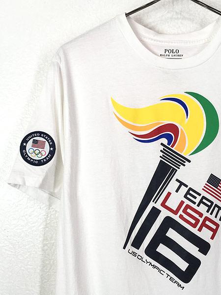 [3] 古着 POLO Ralph Lauren 「2016 RIO Olympic」 USA代表 オフィシャル Tシャツ S位 古着