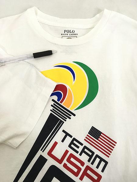 [5] 古着 POLO Ralph Lauren 「2016 RIO Olympic」 USA代表 オフィシャル Tシャツ S位 古着