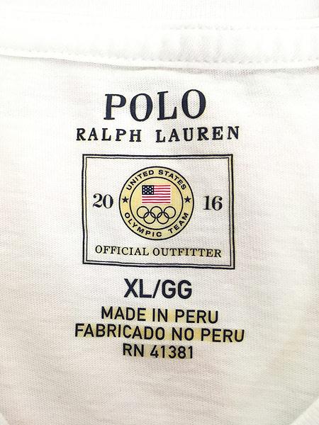 [7] 古着 POLO Ralph Lauren 「2016 RIO Olympic」 USA代表 オフィシャル Tシャツ S位 古着