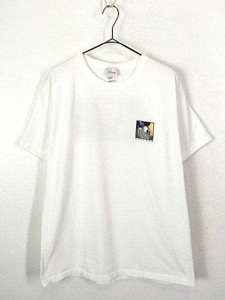 [1] 古着 90s Disney Mickey ミッキー 「CHICAGO」 両面 キャラクター Tシャツ L 古着