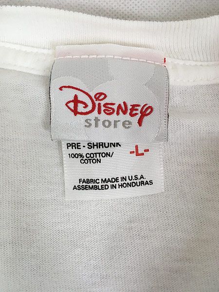 [4] 古着 90s Disney Mickey ミッキー 「CHICAGO」 両面 キャラクター Tシャツ L 古着