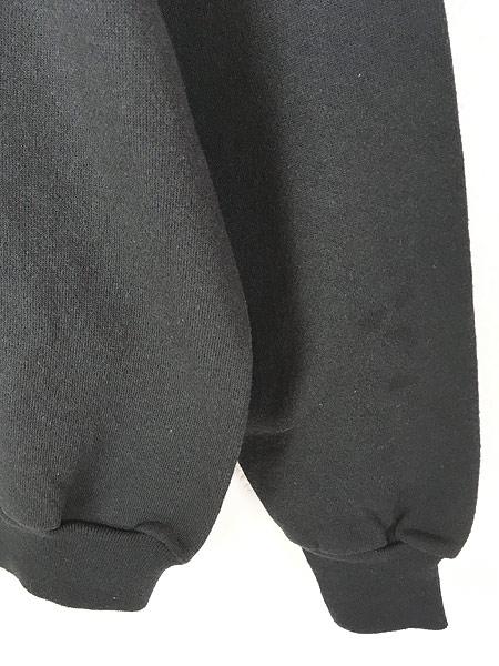[3] 古着 80s USA製 Tultex 無地 ソリッド オールド スウェット トレーナー 黒 L 古着