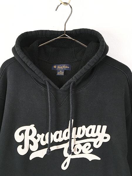 [2] 古着 Brooks Brothers 「Broadway Joe」 Joe Namath モデル スウェット パーカー XL 古着