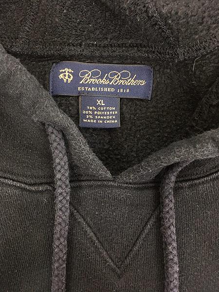 [6] 古着 Brooks Brothers 「Broadway Joe」 Joe Namath モデル スウェット パーカー XL 古着