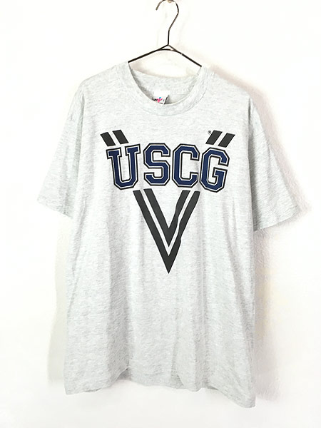 [1] 古着 90s USA製 USCG リフレクター ミリタリー Tシャツ XL 古着