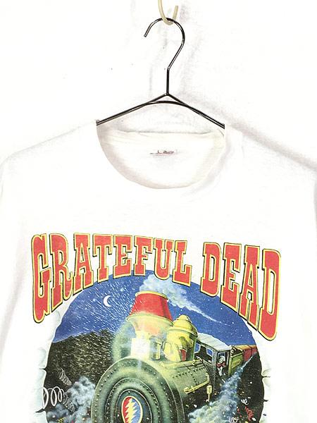 [2] 古着 90s USA製 Grateful Dead 「Summer Tour 1995」 蒸気機関車 スカル ロック バンド Tシャツ L 古着