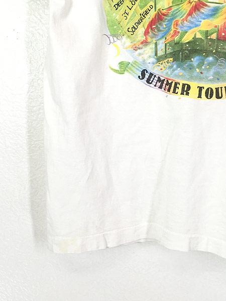 [5] 古着 90s USA製 Grateful Dead 「Summer Tour 1995」 蒸気機関車 スカル ロック バンド Tシャツ L 古着