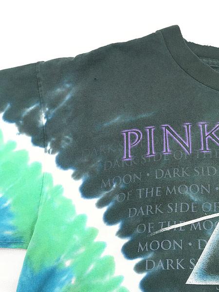 [6] 古着 80s&00s Pink Floyd 「The Dark Side Of The Moon」 狂気 タイダイ プログレ ロック バンド Tシャツ ボロ XL位 古着