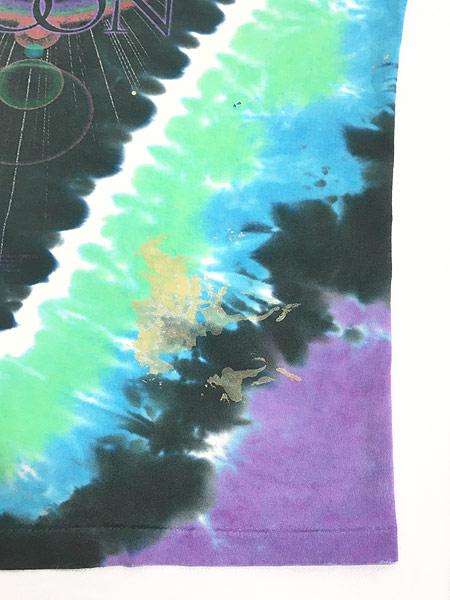 [7] 古着 80s&00s Pink Floyd 「The Dark Side Of The Moon」 狂気 タイダイ プログレ ロック バンド Tシャツ ボロ XL位 古着
