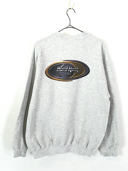 [3] 古着 90s Hard Rock Cafe 「BALTIMORE」 両面 ハードロック スウェット トレーナー L 古着