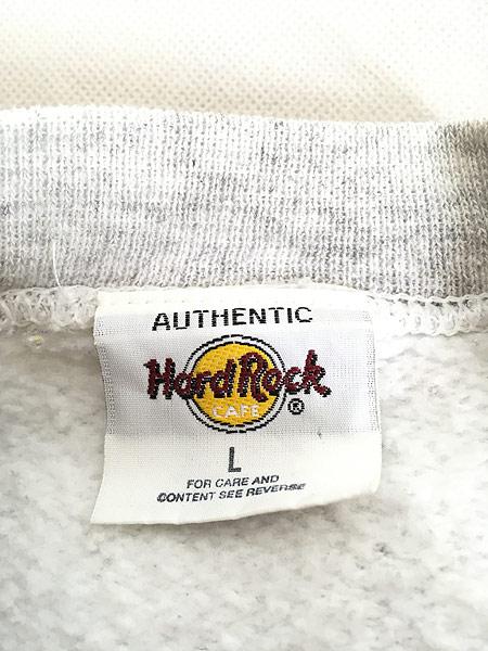 [6] 古着 90s Hard Rock Cafe 「BALTIMORE」 両面 ハードロック スウェット トレーナー L 古着