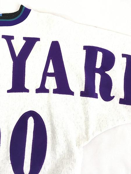 [5] 古着 90s 「BRICK YARD 400」 BIG ワッペン デザイン スウェット トレーナー XL 古着