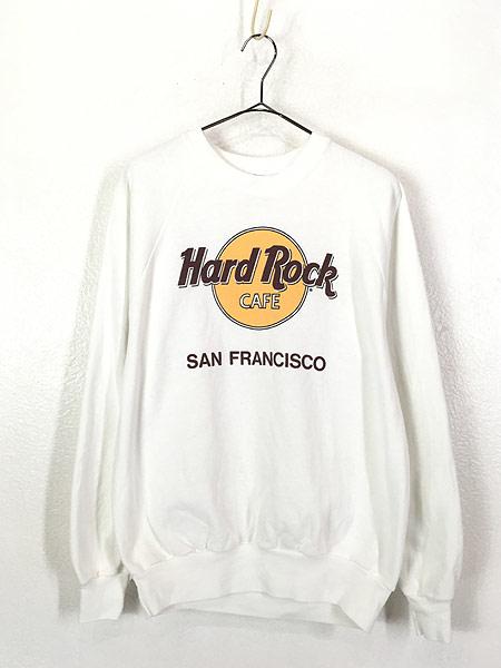 [1] 古着 90s USA製 Hard Rock Cafe 「SUN FRANCISCO」 ハードロック スウェット トレーナー L 古着