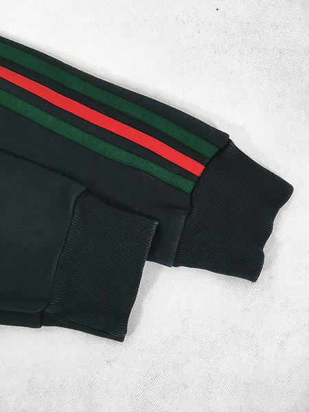 [5] 古着 adidas トレフォイル 迷彩 トリコロール スウェット トレーナー 黒 M 古着