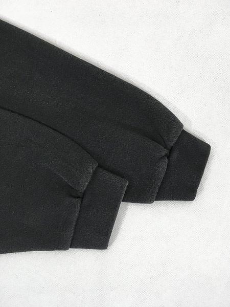 [5] 古着 90s USA製 Reebok ワンポイント 前V スウェット トレーナー 黒 XL 古着