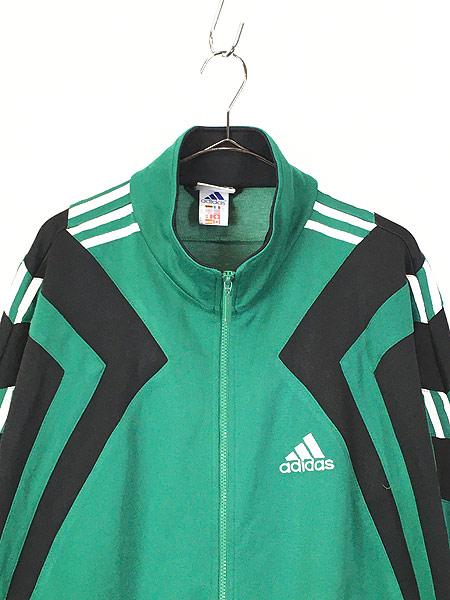[2] 古着 90s adidas ワンポイント 刺しゅう デザイン トラックトップ ジャージ XL位 古着