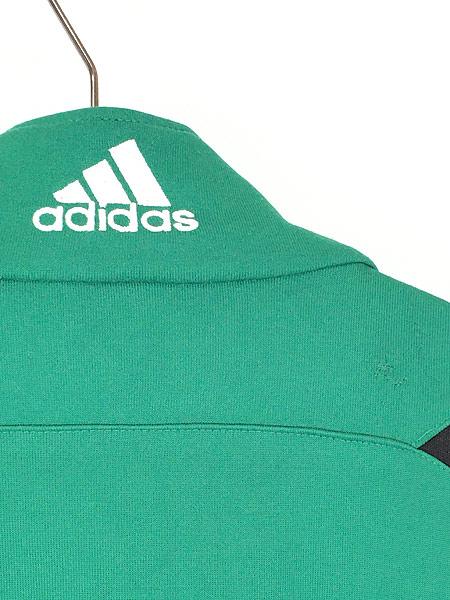[5] 古着 90s adidas ワンポイント 刺しゅう デザイン トラックトップ ジャージ XL位 古着