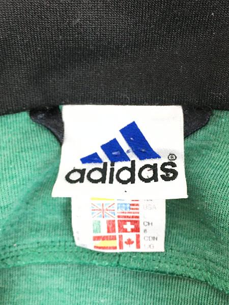 [8] 古着 90s adidas ワンポイント 刺しゅう デザイン トラックトップ ジャージ XL位 古着