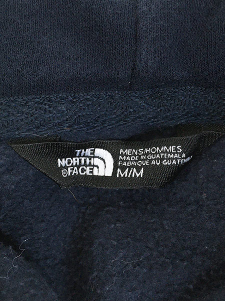 [6] 古着 TNF The North Face ボックス ロゴ 両面 プリント ライト スウェット パーカー M 古着