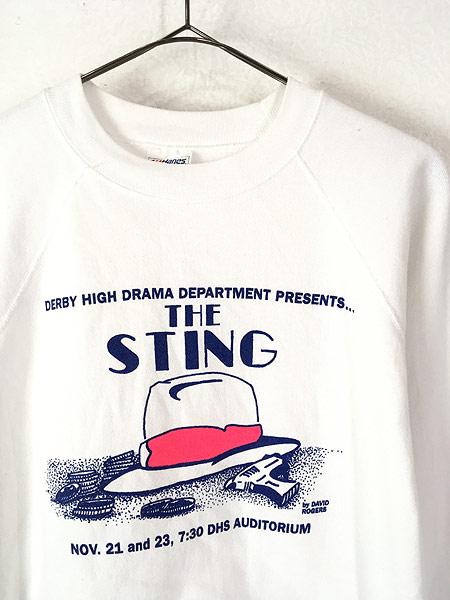 [2] 古着 80s USA製 THE STING 帽子 ハット オールド ムービー ブック スウェット XL 古着