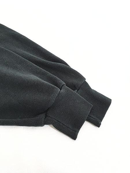 [4] 古着 90s USA製 Jerzees 無地 ソリッド オールド スウェット トレーナー 黒 XL 古着