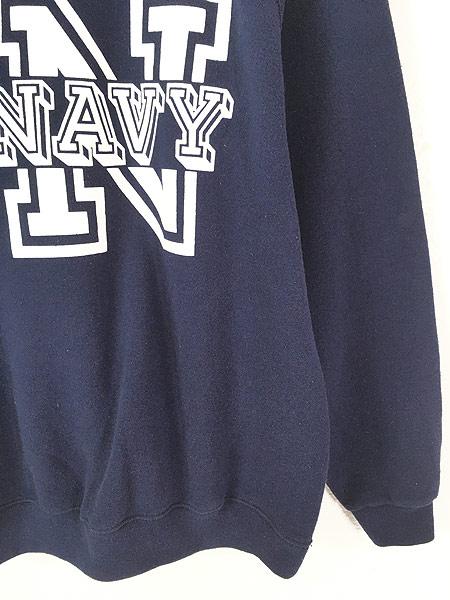 [3] 古着 80s USA製 Soffe 「NAVY」 ミリタリー スウェット トレーナー L 古着