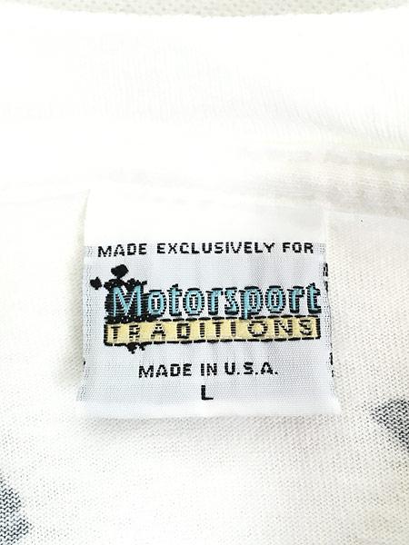 [6] 古着 90s USA製 Kelloggs 豪華 キャラクター オールオーバー レーシング Tシャツ L 古着