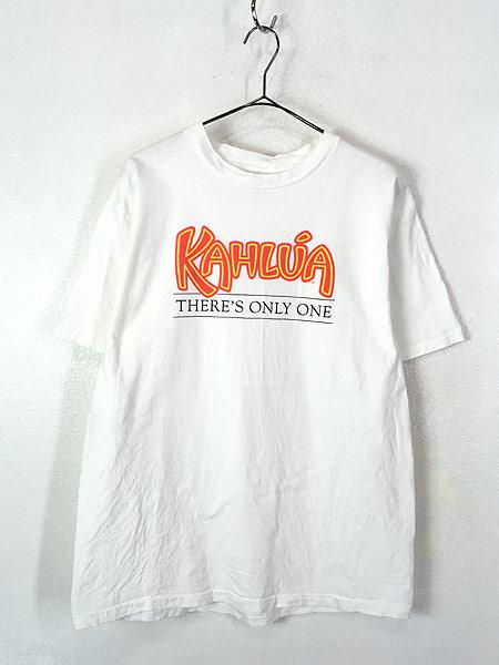 [1] 古着 90s USA製 KAHLUA カルーア リキュール プリント Tシャツ XL 古着