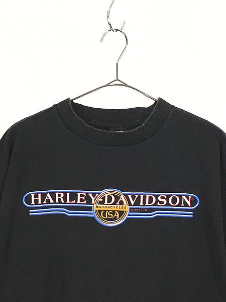 [2] 古着 90s USA製 HARLEY DAVIDSON ウィング オールド モーター Tシャツ XL 古着