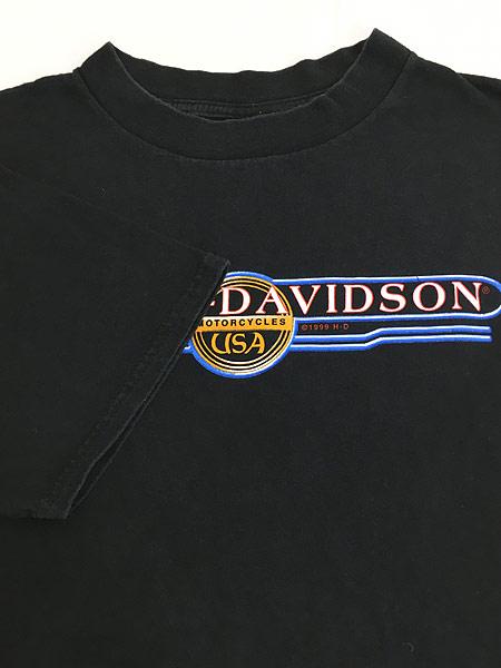 [4] 古着 90s USA製 HARLEY DAVIDSON ウィング オールド モーター Tシャツ XL 古着