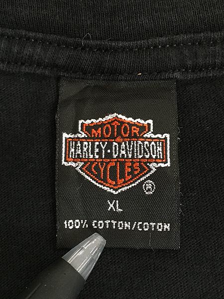 [6] 古着 90s USA製 HARLEY DAVIDSON ウィング オールド モーター Tシャツ XL 古着
