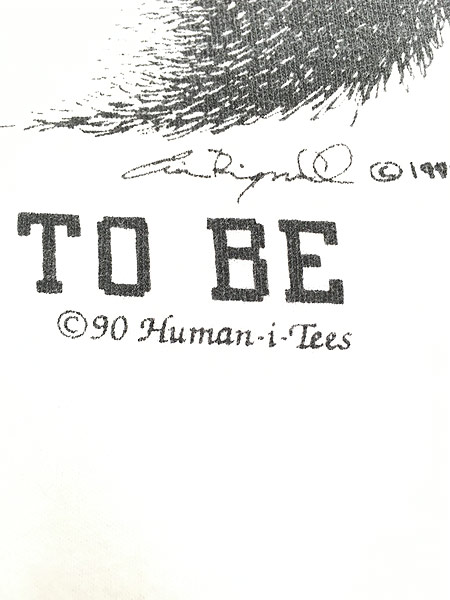 [7] 古着 90s USA製 Human-i-Tees ゴリラ モノクロ アート Tシャツ XXL 古着