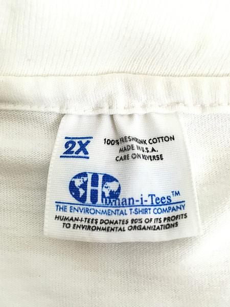 [8] 古着 90s USA製 Human-i-Tees ゴリラ モノクロ アート Tシャツ XXL 古着