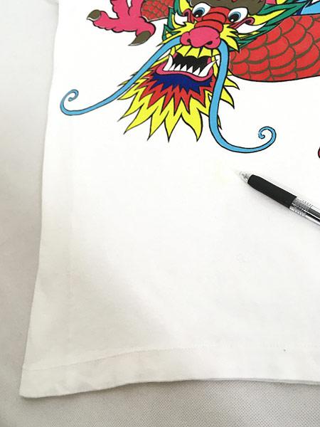 [5] 古着 80s 龍 ドラゴン BIG デザイン オールド アート Tシャツ M 古着