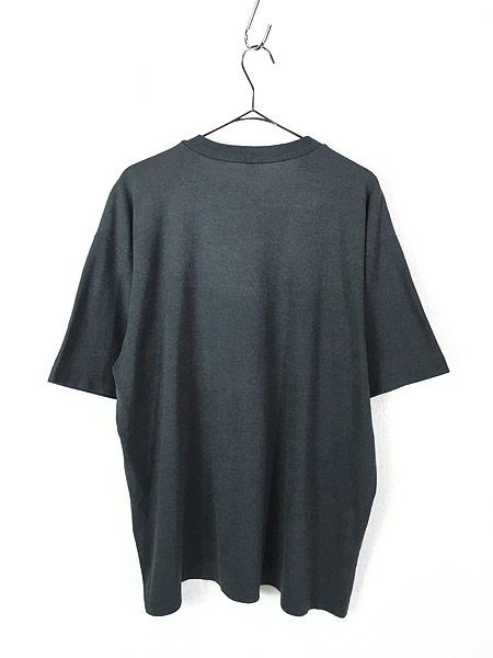 [3] 古着 80s MEXICO CANCUN カンクン モノトーン キャラクター Tシャツ 黒 XL位 古着