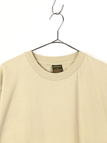 [2] 古着 90s USA製 Timberland ティンバー ワンポイント Tシャツ L 古着