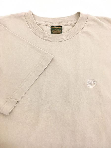 [6] 古着 90s USA製 Timberland ティンバー ワンポイント Tシャツ L 古着
