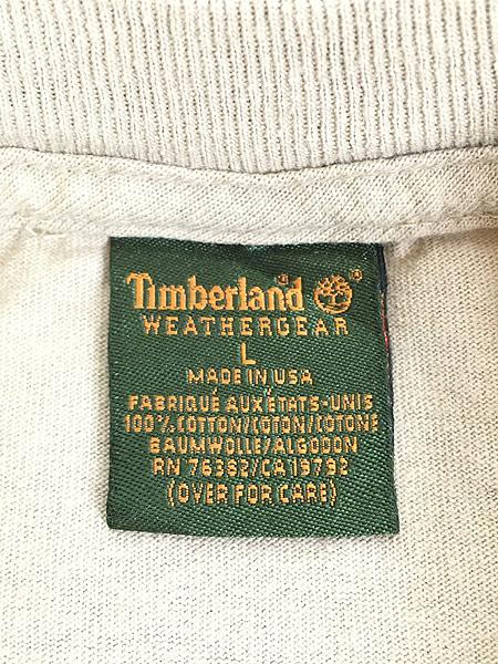 [7] 古着 90s USA製 Timberland ティンバー ワンポイント Tシャツ L 古着