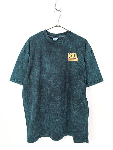 [1] 古着 90s KOOL タバコ ネオン ロゴ ブリーチ Tシャツ XL位 古着