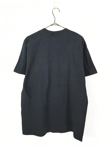 [3] 古着 90s USA製 TOMMY HILFIGER 「1996 Atlanta」 フェイクレザー パッチ Tシャツ L 古着