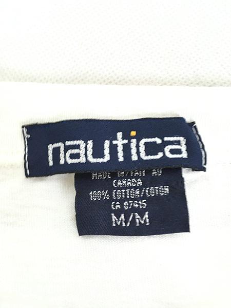 [5] 古着 90s Canada製 NAUTICA ノーティカ BIG ロゴ Tシャツ M 古着