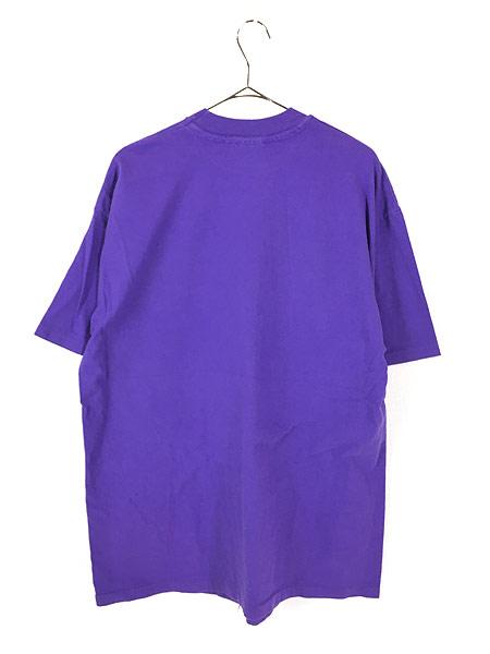 [3] 古着 80s USA製 UNIVERSAL STUDIOS ネオン 発泡 プリント Tシャツ XL 古着