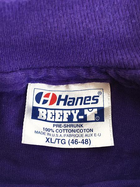 [6] 古着 80s USA製 UNIVERSAL STUDIOS ネオン 発泡 プリント Tシャツ XL 古着