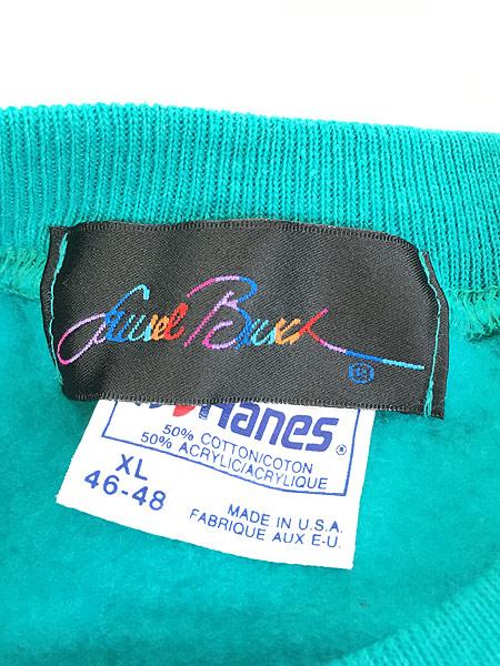 [5] 古着 90s USA製 Laurel Burch 「Laurel Burch Cats」 ネコ アート スウェット XL 古着